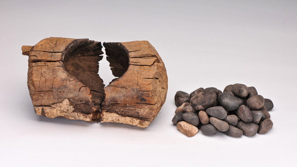 Ancient people put cannabis leaves and hot stones in this brazier, and likely inhaled the resulting smoke.