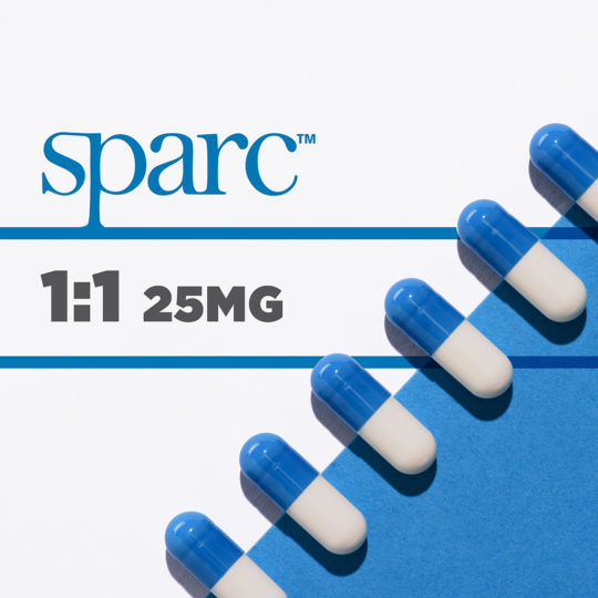 SPARC Capsules - 25mg 1 to 1 ratio