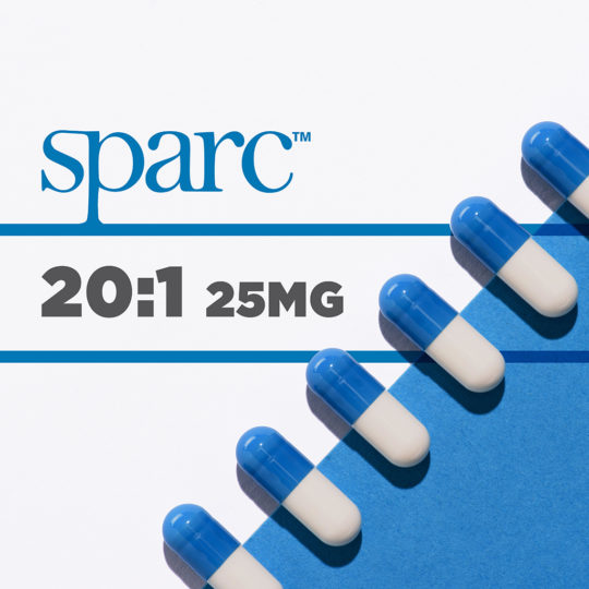 SPARC Capsules - 25mg 20 to 1 ratio