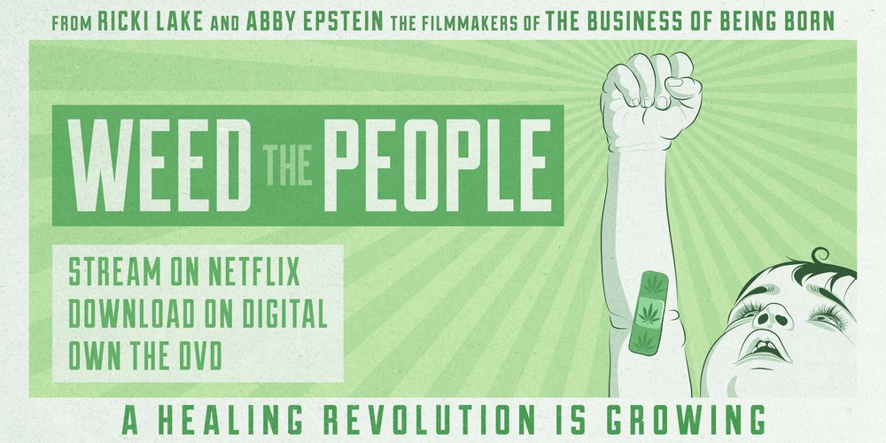 Weed the people banner