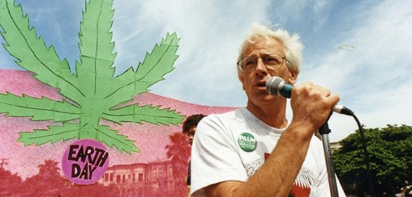 Dennis peron giving a speech about medical marijuana.