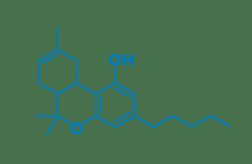 Delta 8 THC molecule