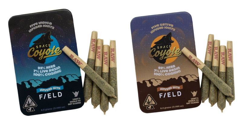 Space Coyote infused prerolls available at SPARC cannabis dispensary in Sebastopol